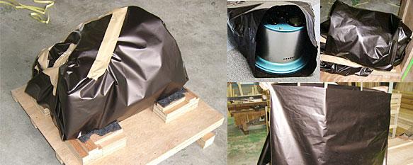 木枠梱包 防錆 輸出
